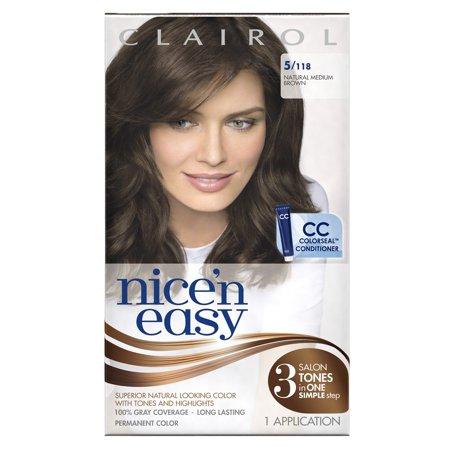 Clairol Nice 'n Easy Permanent Hair Color, 5 118 Natural ...