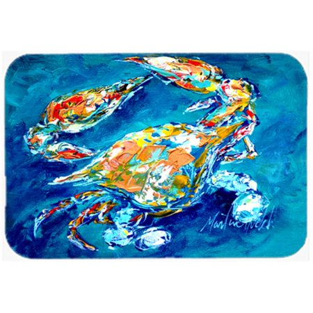 Carolines Treasures MW1153LCB 15 X 12 In. By Chance Crab Glass Cutting Board Large Size - image 1 de 1