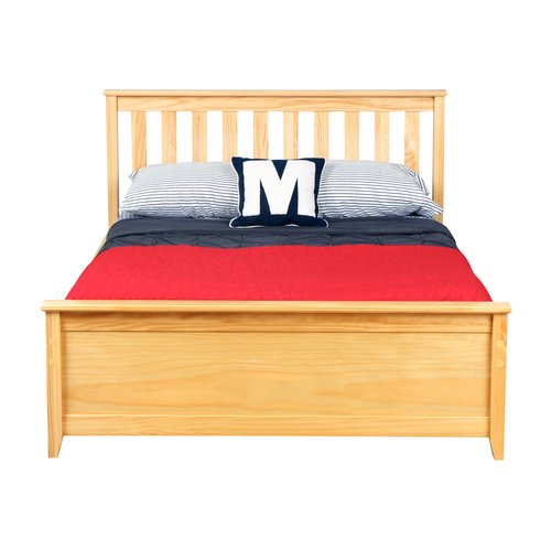 Max & Lily Solid Wood Full Platform Bed with Under Bed Storage Drawer