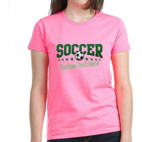 Cafepress Personalized Soccer Women's Dark T-Shirt