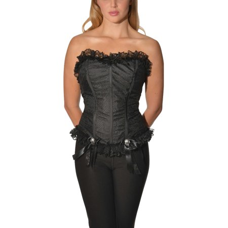 Victorian Gothic Halloween Party Ideas (Womens Victorian Era Gothic From The Crypt Bridal Corset Costume)