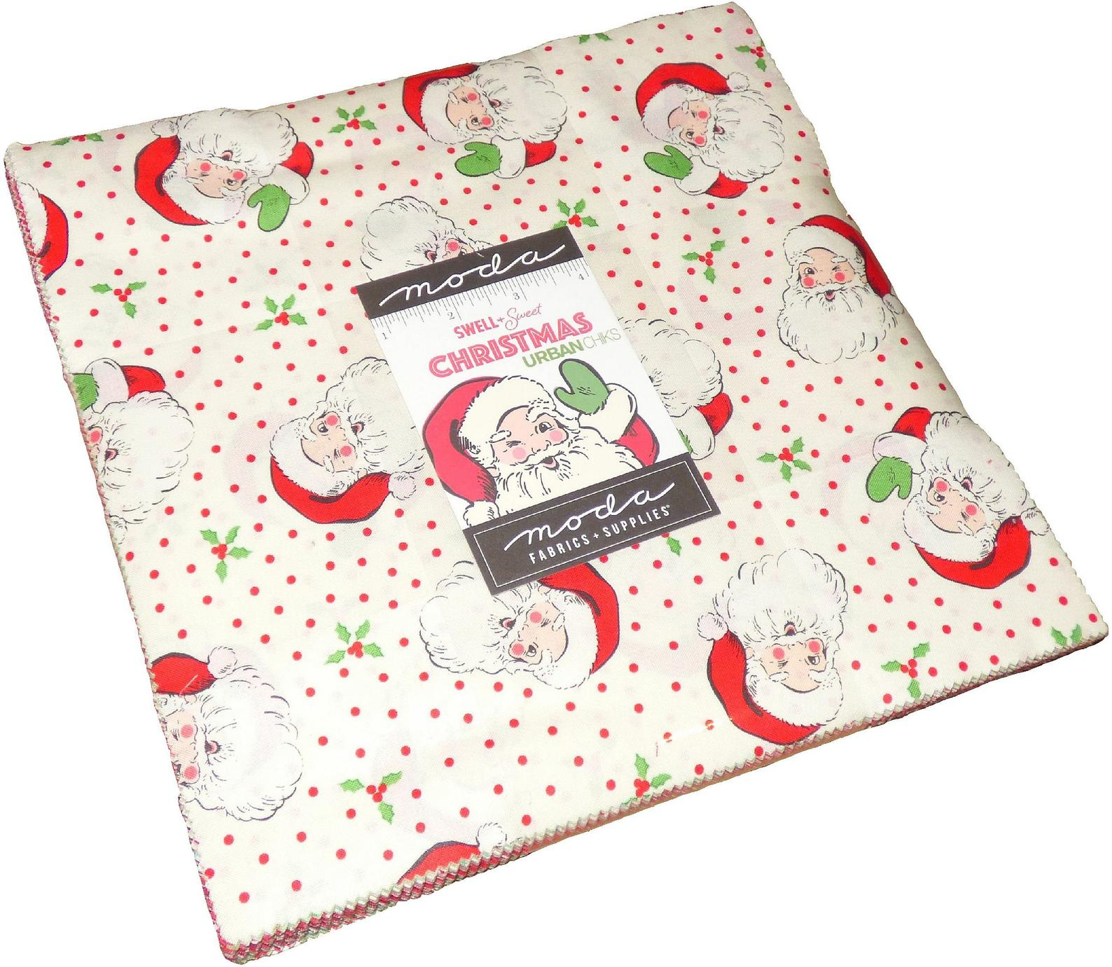 42 SWEET CHRISTMAS  by UrbanChiks for Moda Fabrics 10 inch squares Layer Cake