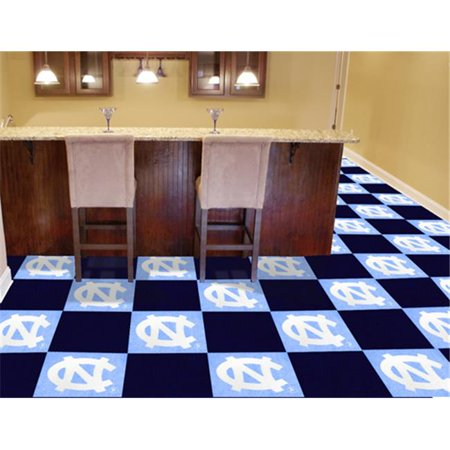 Fanmats 8534 Unc North Carolina   Chapel Hill Carpet Tiles 18 In  X 18 In  Tiles