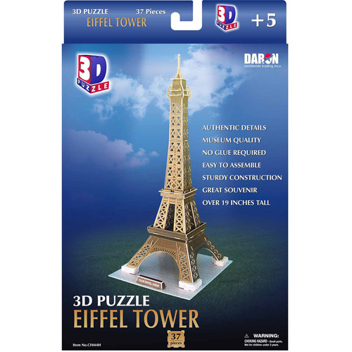 3D Puzzle, Eiffel Tower, 37 pcs