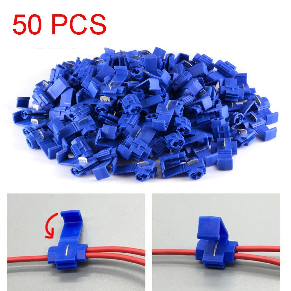 50pcs Quick Splice Lock Wire Terminals Connectors Electrical Crimp Cable Snap JE