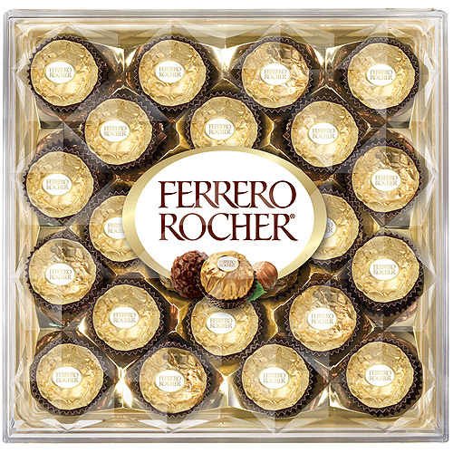 Ferrero Rocher Fine Hazelnut Chocolates, 10.6 oz