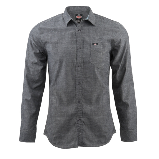 Bell Powersports Woven Hailwood Button Up Gray XL  7062519