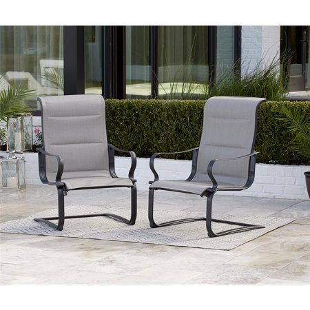 ab2158a87164 COSCO Outdoor Living SmartConnect Padded Motion Patio Chairs,Gray Beige,  2-Pack - Walmart.com