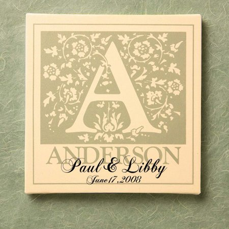 Personalized Initial Wedding Canvas Wall Decor