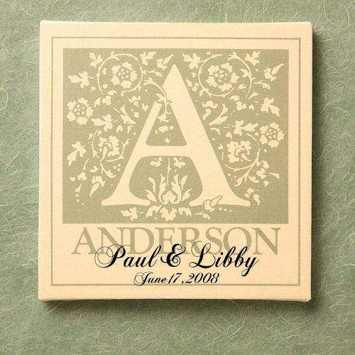 Personalized Initial Wedding Canvas Wall Decor   Walmart.com