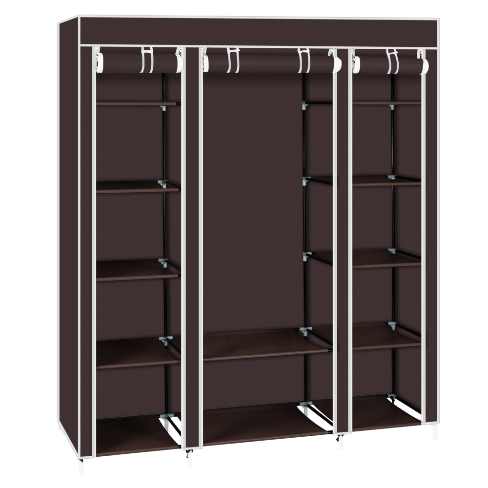 Zimtown 5 Tier Heavy Duty Portable Closet Wardrobe Clothes Rack Storage Organizer Shelf