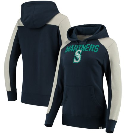 Seattle Mariners Fanatics Branded Women's Iconic Pullover Hoodie - Navy/Gray