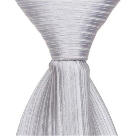 S2 - 13.75 in. Zipper Necktie - Light Grey & Silver, 4T-7 - image 1 de 1