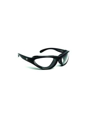 Viento AirShield Sunglasses,Matte Black Frame,SharpView Clear Lens,S-M 150