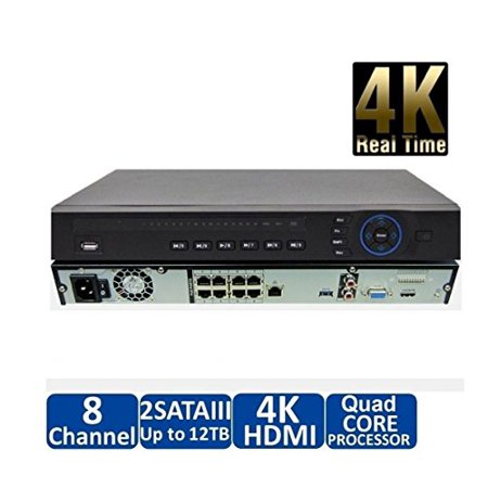 Dahua NVR4208-8P-4K 8 Channel 1U 8PoE NVR Network Video Recorder 8 Channel Digital Dvd Recorder
