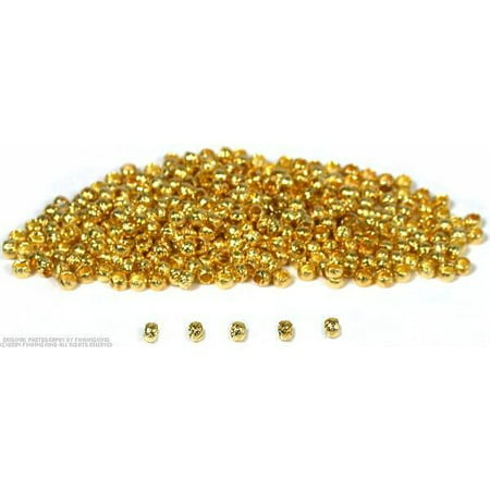 400 Brass Crimp Beads Stringing Jewelry Beading Parts