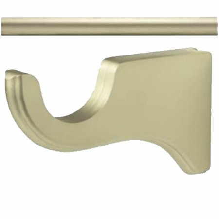 "Kirsch Wood Trends  Kit:1 3/8""  Smooth Pole +  2 Long Brackets, Satin Gold:6 FT"