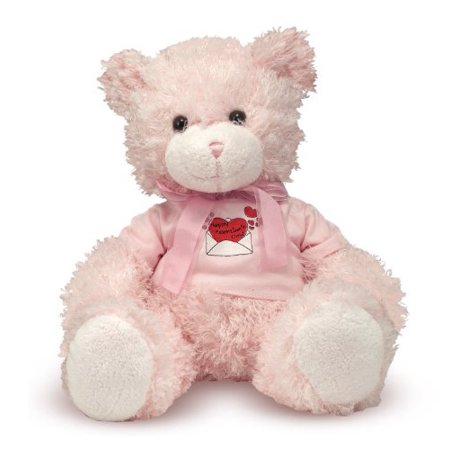 Melisa and Doug Happy Valentines Day Girl Bear 22- Pink