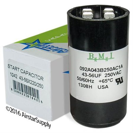 43 56 Uf   Mfd X 220 250 Vac Bmi Start Capacitor   092A43b250ac1a   Made In The Usa