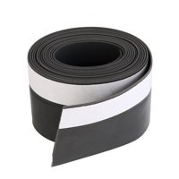 Weather Stripping Silicone Door Seal Stopper Black 6.6 Ft Length,1.4 Inch Width