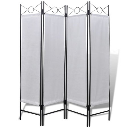 "WALFRONT 4-Panel Room Divider Privacy Folding Screen White 5' 3"" x 5' 11"""