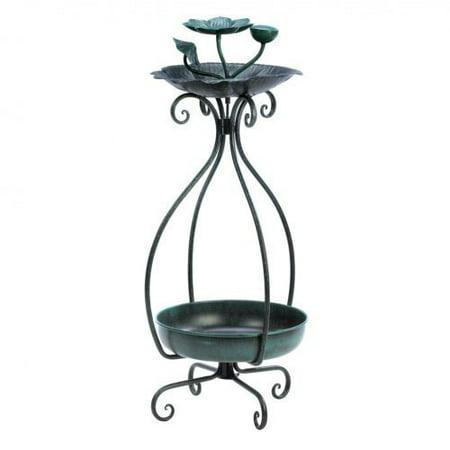 Pretty Flower Bed - Koehler Home Outdoor Decorative Accent Metal Birdfeeder And Pretty Flower Pot Planter