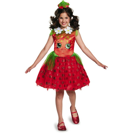 Shopkins Strawberry Kiss Classic Child Halloween Costume](Strawberry Costumes)