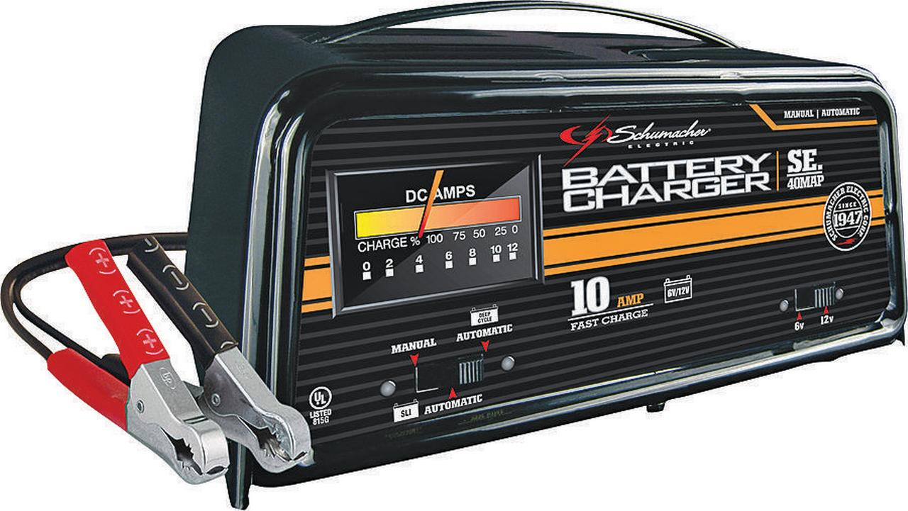 schumacher 10 amp fully automatic manual charger walmart com
