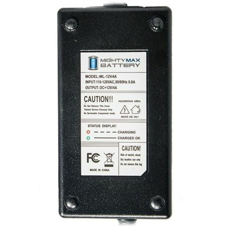 12V 4AMP CHARGER  MAINTAINER for 12V 12AH Data Shield At5000 Battery - image 1 de 2