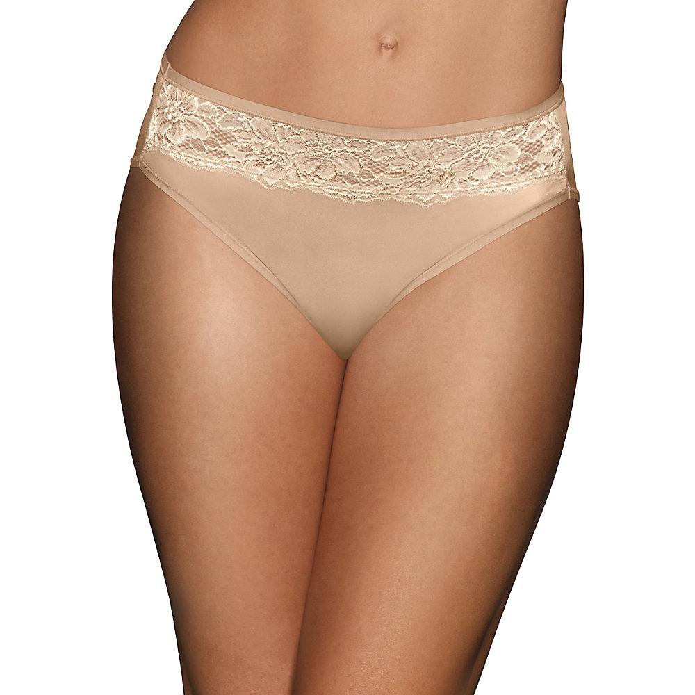 Bali 2848 One Smooth U Comfort Indulgence Lace Hi-Cut Panty ...