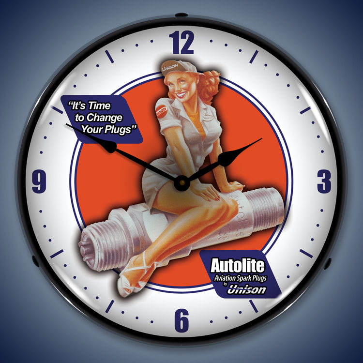 Autolite Avaition Wall Clock, Lighted: Airplane Theme