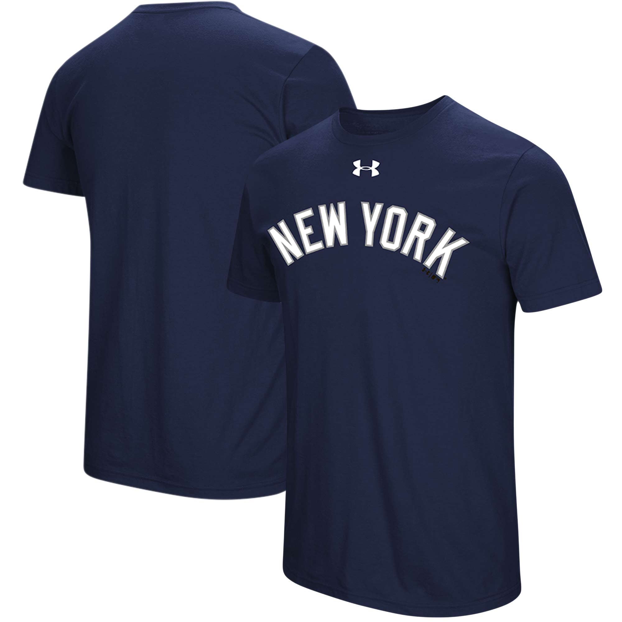New York Yankees Under Armour Passion Road Team Font T-Shirt - Navy
