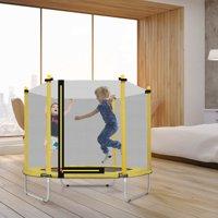 "60"" Mini Trampolines for Kids, Trampolines for Kids with Safety Enclosure Net&Spring Pad, Indoor/Outdoor Small Kid Trampolines for Boys Girls, Trampolines for Kids, Best Gift for Kids, R720"