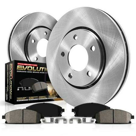 Power Stop Rear Stock Replacement Brake Pad and Rotor Kit KOE098