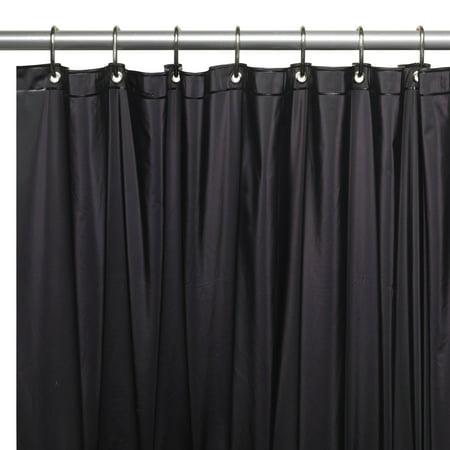 Green Toile Shower Curtain (Mildew-Resistant, 10 Gauge Vinyl Shower Curtain Liner w/ Metal Grommets and Reinforced Mesh Header in Black )