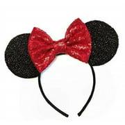 vanvene red mouse ears handband, rainbow mouse ears, sparkly mouse ears, mouse ears, electrical parade ears
