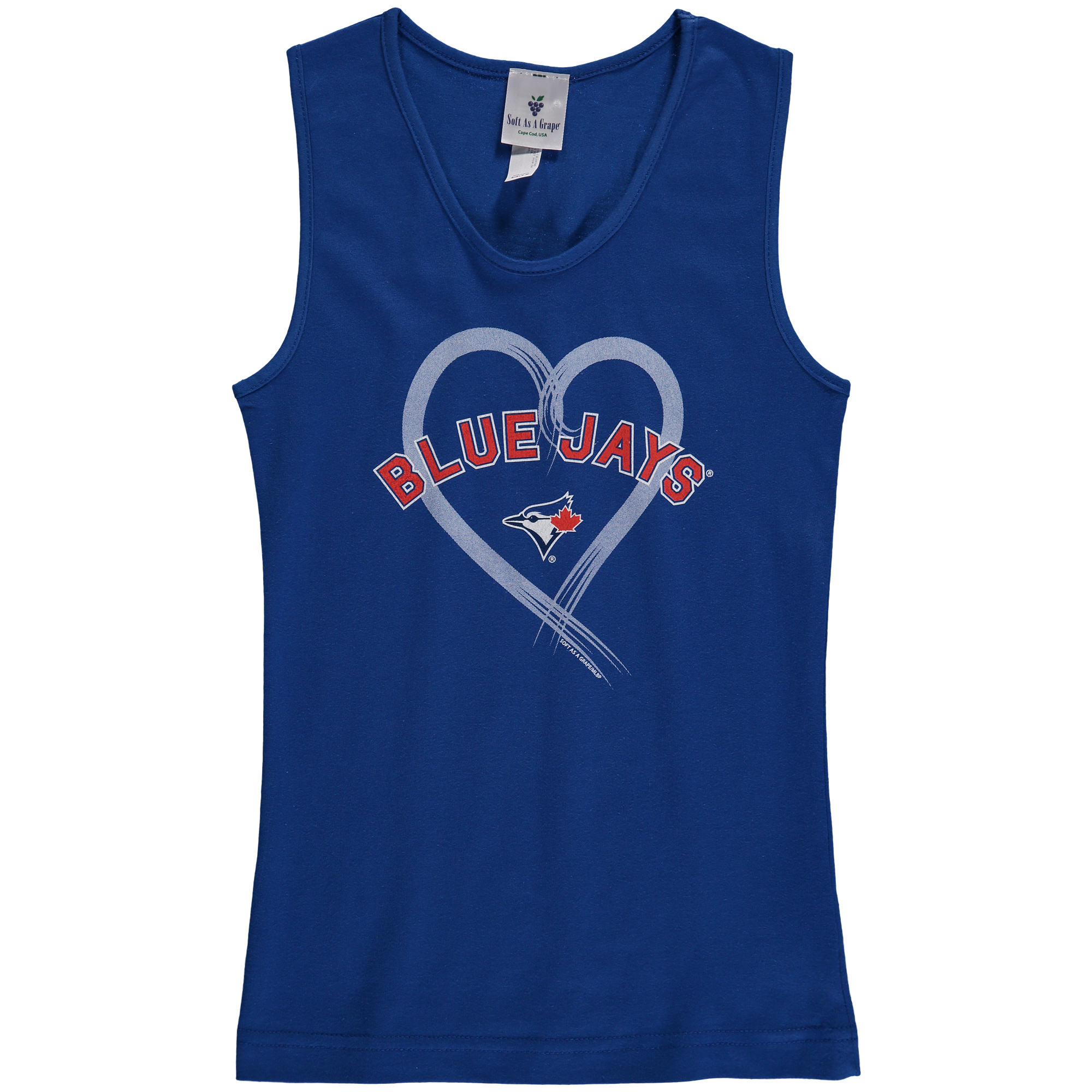 Toronto Blue Jays Soft as a Grape Girls Youth Rally Tank Top - Royal