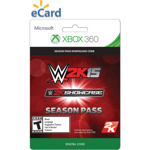 Xbox 360 WWE 2K15 Showcase Season Pass $24.99 (Email Delivery)