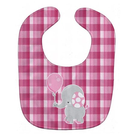 Carolines Treasures BB6948BIB Elephant With Pink Balloon Baby Bib - image 1 of 1