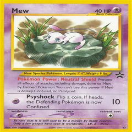 Pokemon Promo Cards Mew #47