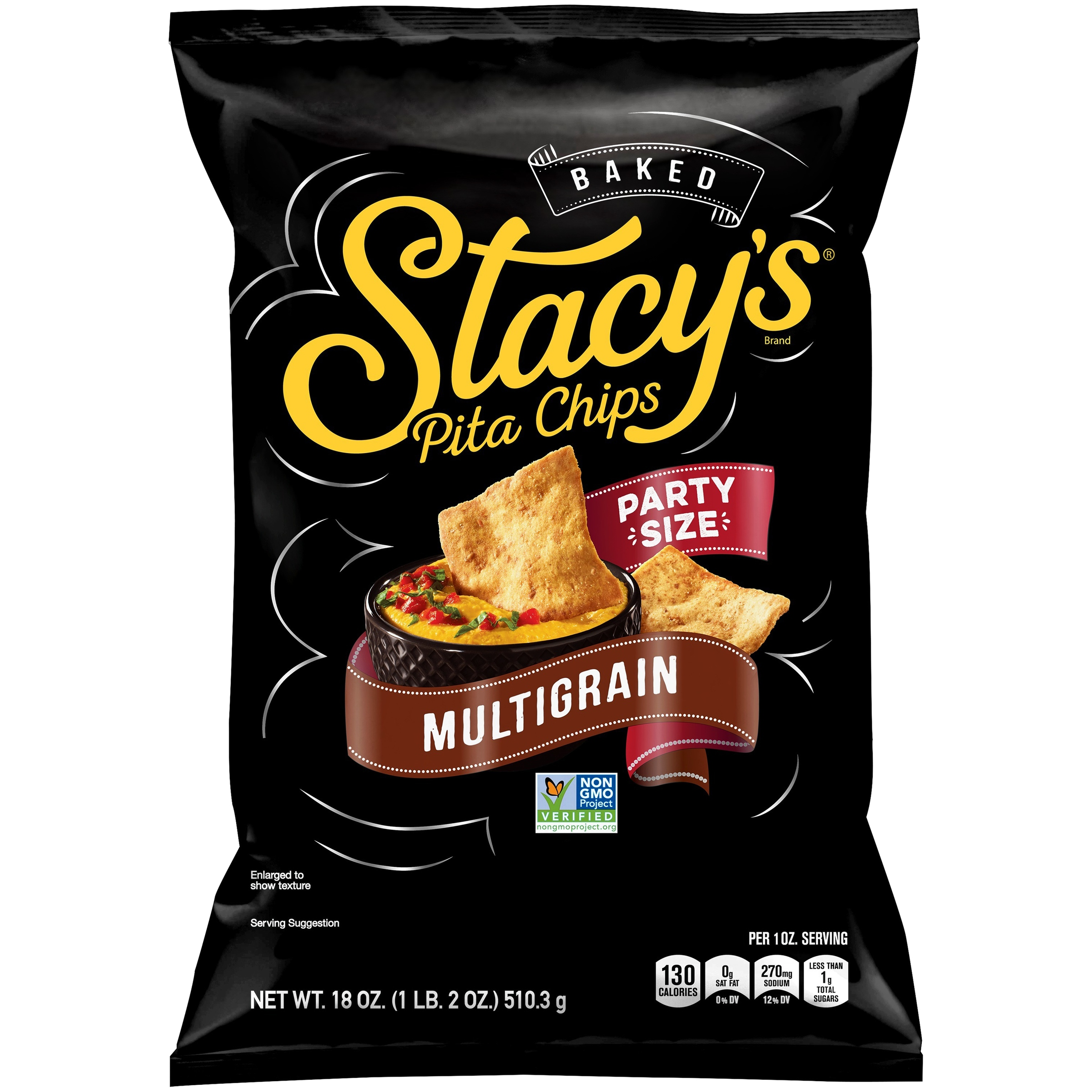 Stacy's Party Size Multigrain Pita Chips 18 oz. Bag