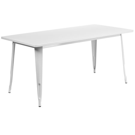 Image of Flash Furniture 31.5'' x 63'' Rectangular Metal Indoor-Outdoor Table, Multiple Colors