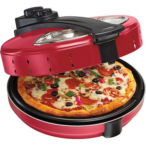 Hamilton Beach Enclosed Pizza Oven, Red