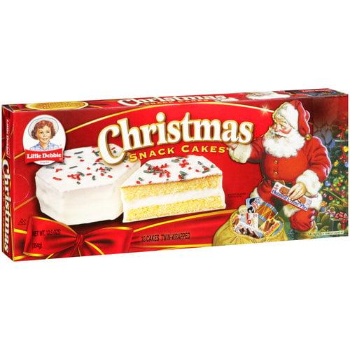 Little Debbie Snacks Christmas Snack Cakes, 10ct