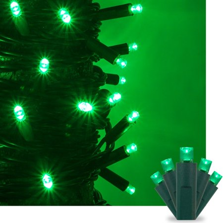 green led christmas mini string light set 50 5mm lights indoor outdoor christmas