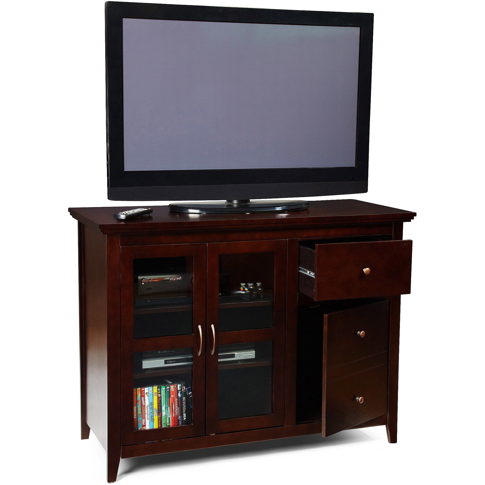 "Convenience Concepts Sierra Highboy Black TV Stand for TVs up to 50"", Multiple Colors"