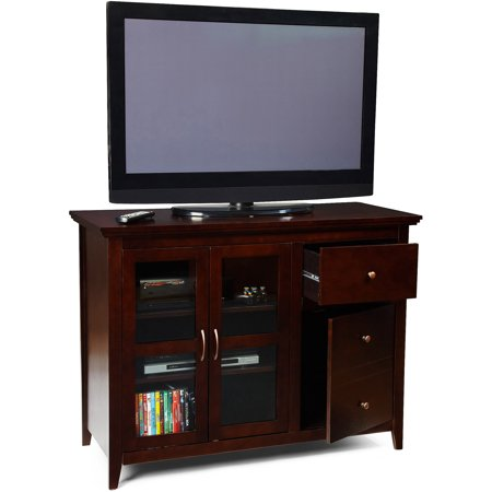 Convenience Concepts Sierra Highboy Black TV Stand for TVs up to 50″, Multiple Colors