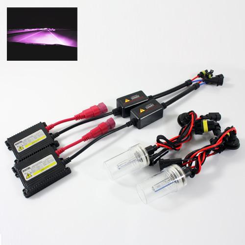 ModifyStreet® PG13 Base 800 Series (880/881/884/885/886/892/893/899/889/894/896/898) 35W Slim DC Ballast Xenon HID Conversion Kit - 12000K Violet Pink