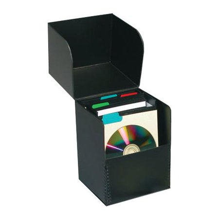 print file flip top cd storage box holds approximately 50 sleeved cds archival. Black Bedroom Furniture Sets. Home Design Ideas