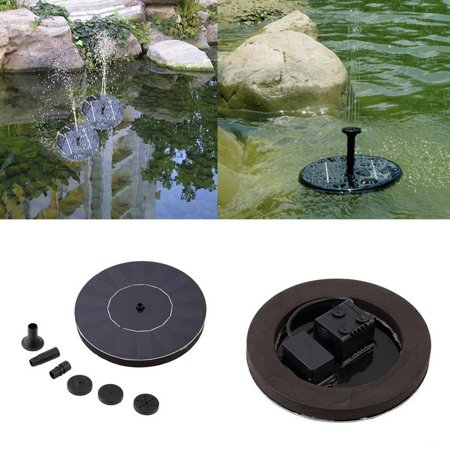 Solar Ed Water Pump Garden Fountain Pond Kit For Waterfalls Display